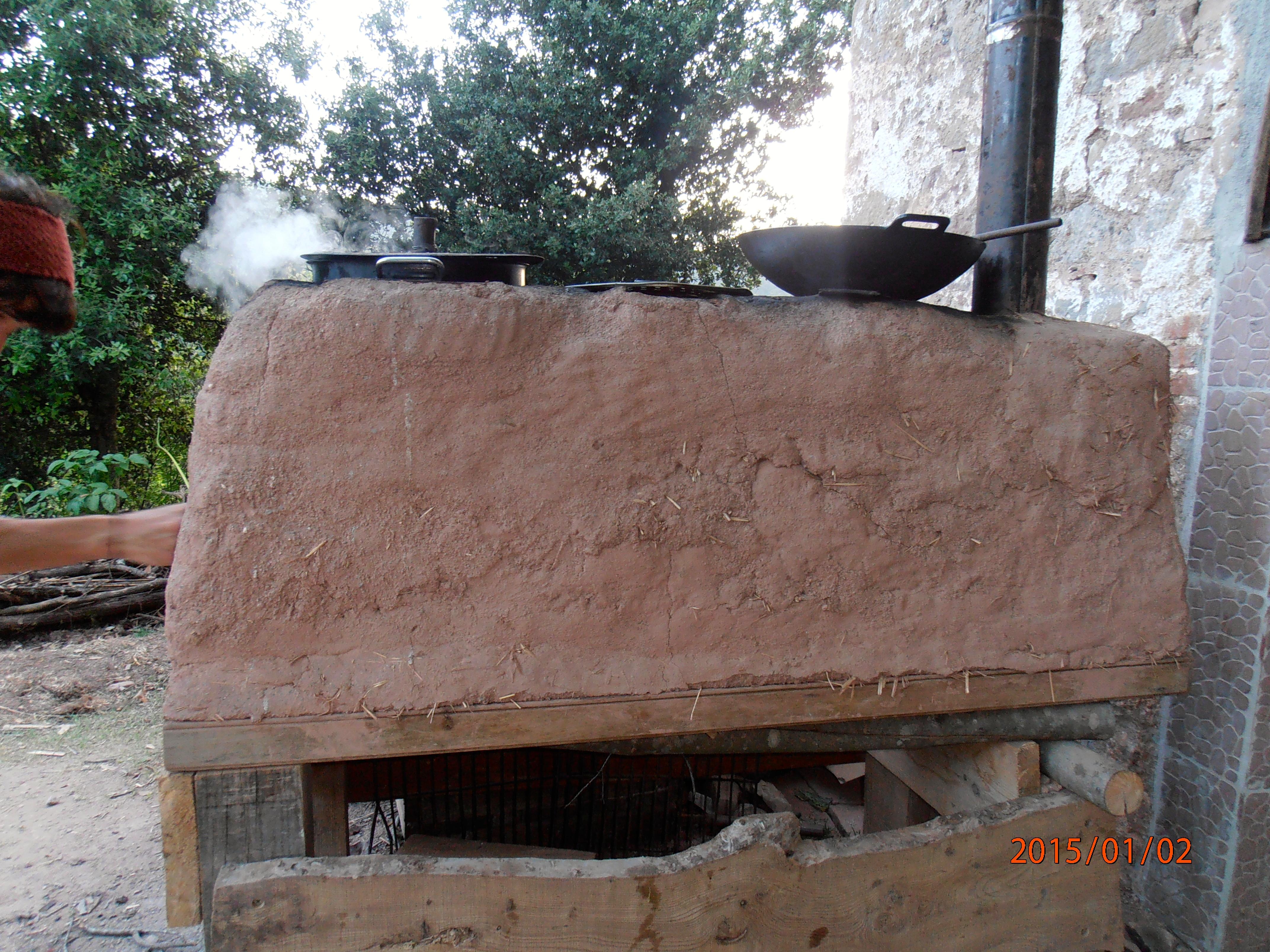 Mexicaanse keuken van stro en leem